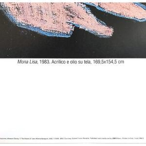 Jean Michel Basquiat Mona Lisa poster cm98x120 description
