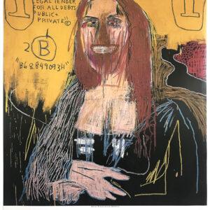 Jean Michel Basquiat Mona Lisa poster cm98x120 full