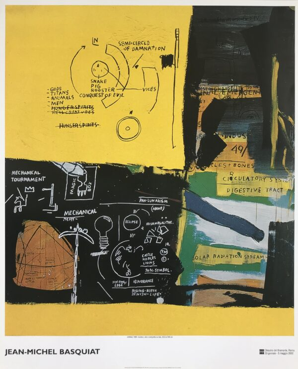 "Jean Michel Basquiat ""Untitled"" poster cm 98x120"
