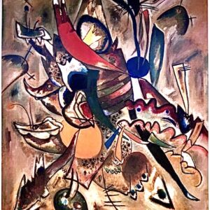 Kandinski Chagall Malevic Dipinto con punte - Poster cm 132x96