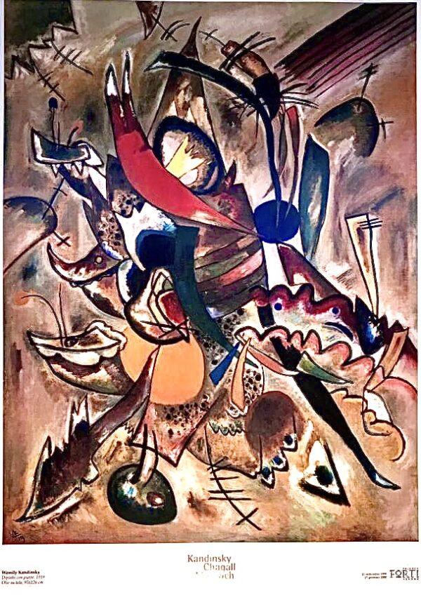 Kandinski Chagall Malevic Dipinto con punte - Poster cm 132x96