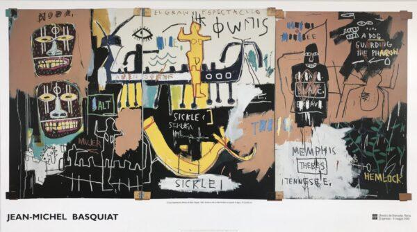 Jean Michel Basquiat El Gran Espectaculo poster cm77x138