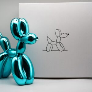 Jeff Koons Ballon Dog light blue Koons after cold cast resin cm30x30x12 edition 294 of 999 with original box