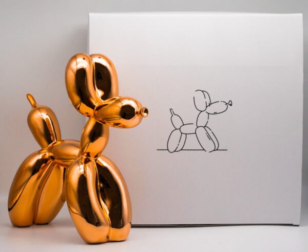 Jeff Koons Ballon Dog orange Koons after cold cast resin cm30x30x12 edition 293 of 999 with original box