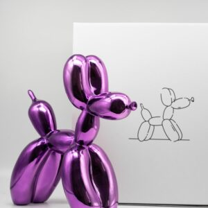 Jeff Koons Ballon Dog pink Koons after cold cast resin cm30x30x12 edition 484 of 999 with original box