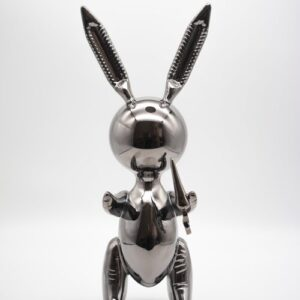 Jeff Koons Ballon Rabbit black XL Koons after Zinc alloy cm33 in13 Weight 3kg edition 54 of 500 front