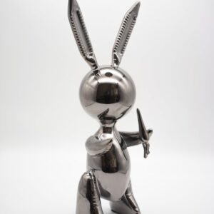 Jeff Koons Ballon Rabbit black XL Koons after Zinc alloy cm33 in13 Weight 3kg edition 54 of 500 nex to