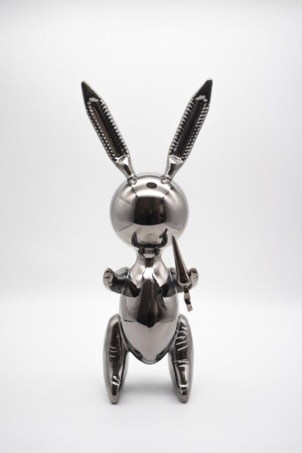 Jeff Koons Ballon Rabbit silver XL Koons after Zinc alloy cm33 in 13Weight 3kg edition 58 of 500 front