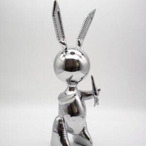 Jeff Koons Ballon Rabbit silver XL Koons after Zinc alloy cm33 in13 Weight 3kg edition 58 of 500 nex to