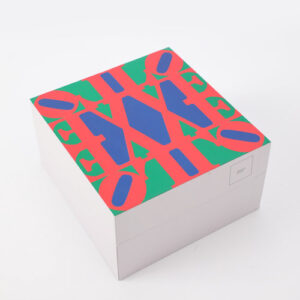 Robert Indiana Love red blue green 2018 painted polystone cm15x15x7 edition 393 of 500 with original box