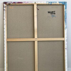 Mart Signed Gioconda disease 01 2020 Disease 120x100 Acrylic and mixed media on canvas retro