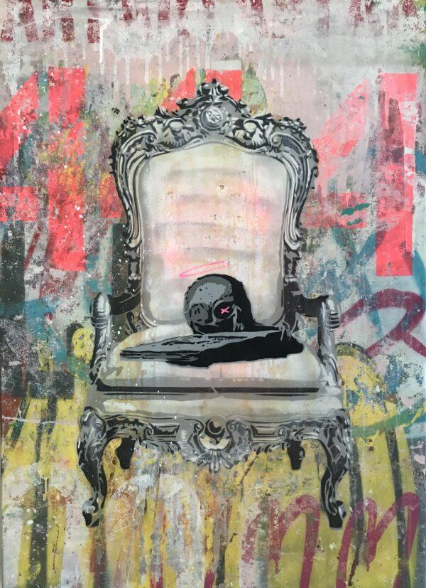 Mart Signed Mart Skull 01 2020 Wall 110x80 Acrylic and mixed media on canvas