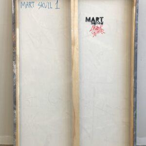 Mart Signed Mart Skull 01 2020 Wall 110x80 Acrylic and mixed media on canvas retro
