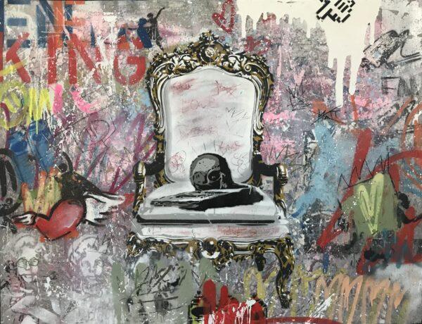 Mart Signed Mart Skull 02 2020 Wall 98x127 Acrylic and mixed media on pvc panel