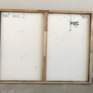 Mart Signed Mart Skull 02 2020 Wall 98x127 Acrylic and mixed media on pvc panel retro