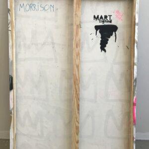 Mart Signed Morrison disease 2020 Disease 110x80 Acrylic and mixed media on canvas retro