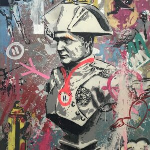 Mart Signed Napoleon 2020 Wall 110x80 Acrylic and mixed media on canvas