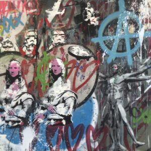 Mart Signed Parigi 2020 Wall 130x150 Acrylic and mixed media on canvas
