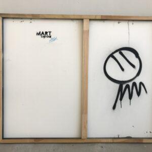 Mart Signed Perseo 2020 Wall 98x127 Acrylic and mixed media on pvc panel retro