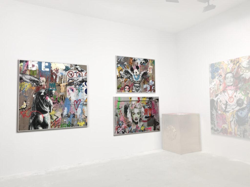 Lavori di Mart Signed serie Mart Wall esposti alla mostra personale presso HrDocksGallery di Torino