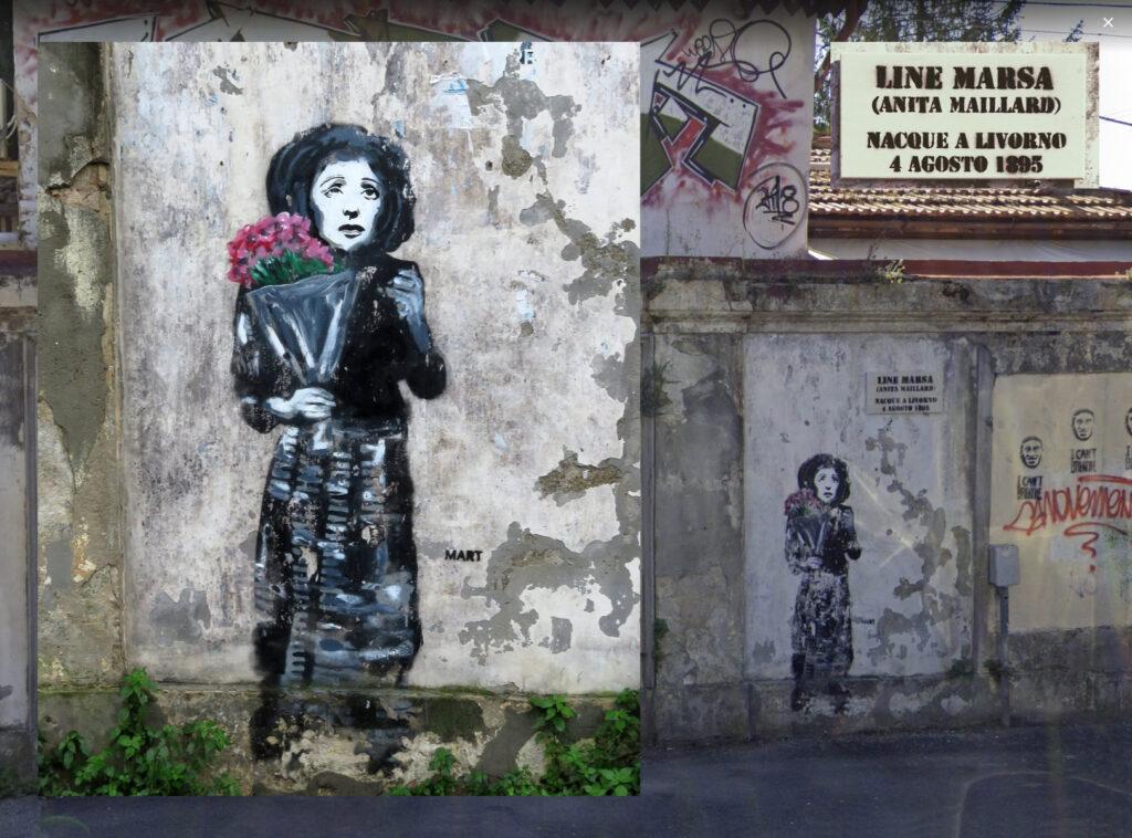 Line Marsa by Mart Signed - murales in Villa Fabbricotti/Piazza Matteotti - Livorno