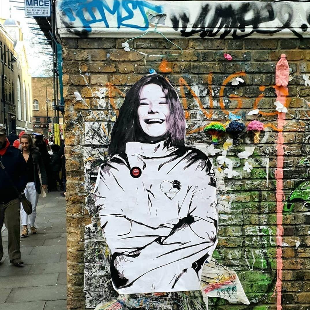 Mart Signed Janis Joplin Desease Street Artwork in London