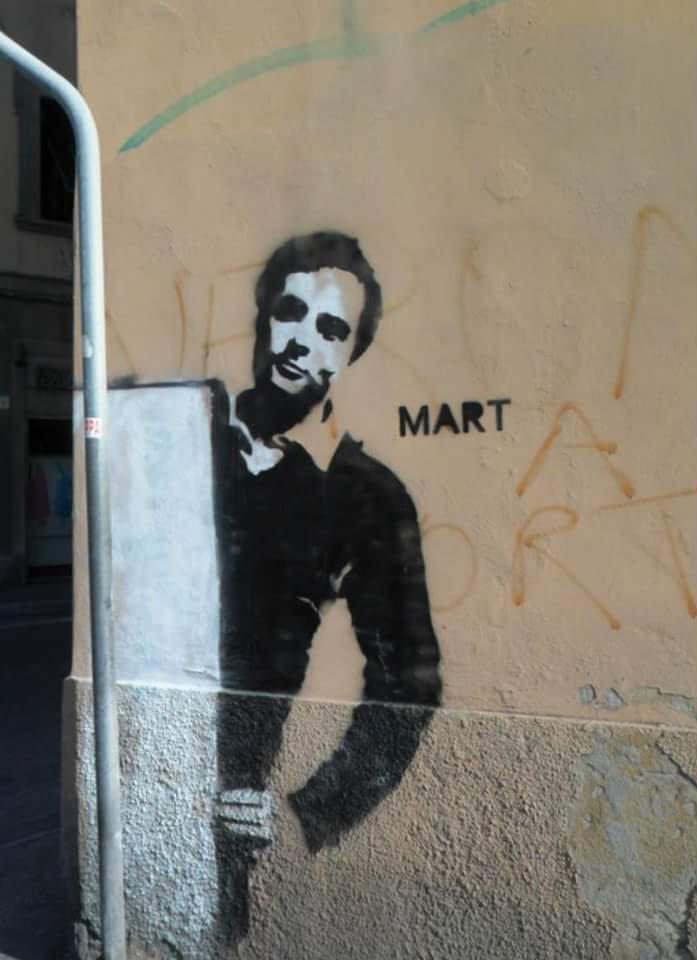 Mart Signed Street Art murales Modigliani