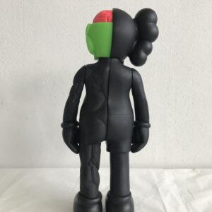 Kaws Small Lie black 2008 painted vinyl sculpture cm35x15x10 back