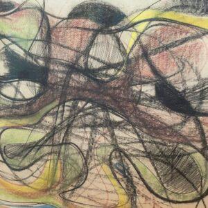 Tancredi Parmeggiani Senza titolo Pastello su carta cm65x89