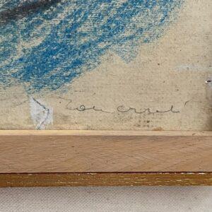 Tancredi Parmeggiani Senza titolo Pastello su carta cm65x89 Firma Artista