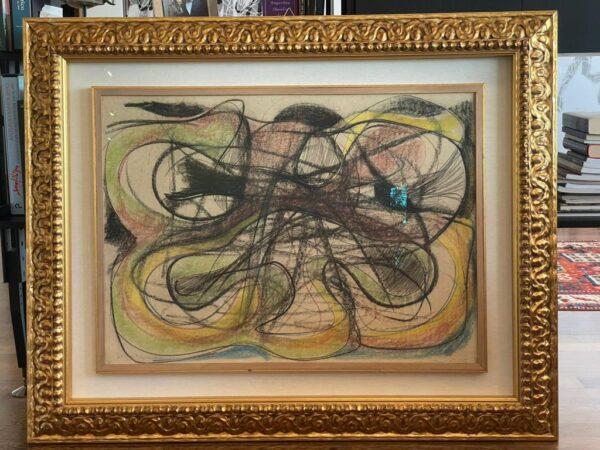 Tancredi Parmeggiani Senza titolo Pastello su carta cm65x89 con cornice