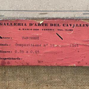 Tancredi Parmeggiani Targhetta Esposizione Galleria del Cavallito