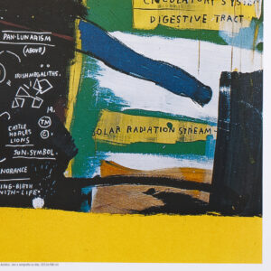 JEAN-MICHEL BASQUIAT POSTER UNTITLED PRINT DETAIL AND SHOW LOGO