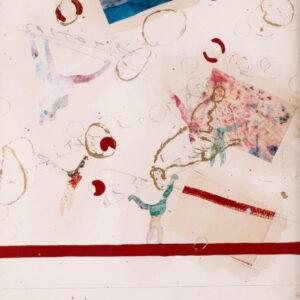 Alighiero Boetti Saltando di palo in frasca al pantheon 1990 70x50cm artwork