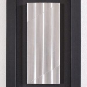 Getulio Alviani Studio Superficie a texture vibratile 1978 195x120mm con cornice