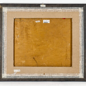 Guttuso Renato Olio su tavola Abbeverata all agrumeto 1936 60x72x2cm back