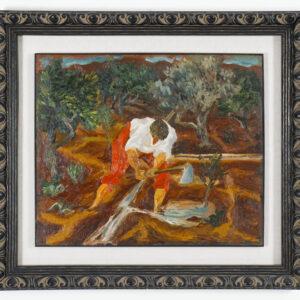 Guttuso Renato Olio su tavola Abbeverata all agrumeto 1936 60x72x2cm full
