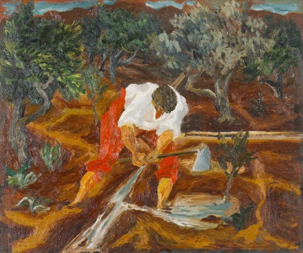 Guttuso Renato Olio su tavola Abbeverata all agrumeto 1936 60x72x2cm artwork