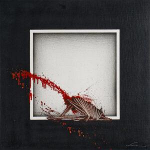 Scanavino Emilio Olio su tela La finestra 1974 60x60x2cm artwork
