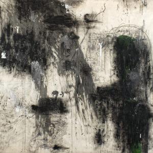 Arcangelo Vicino al diserto Tecnica mista su tela 1990 153x178cm artwork